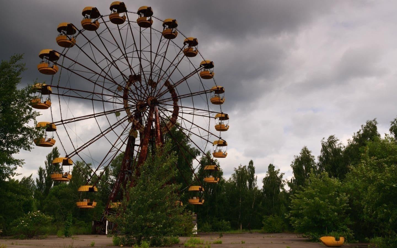 Pariserhjulet i Tjernobyl.